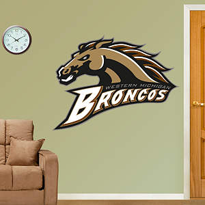 Western Michigan Broncos Logo Fathead Wall Decal